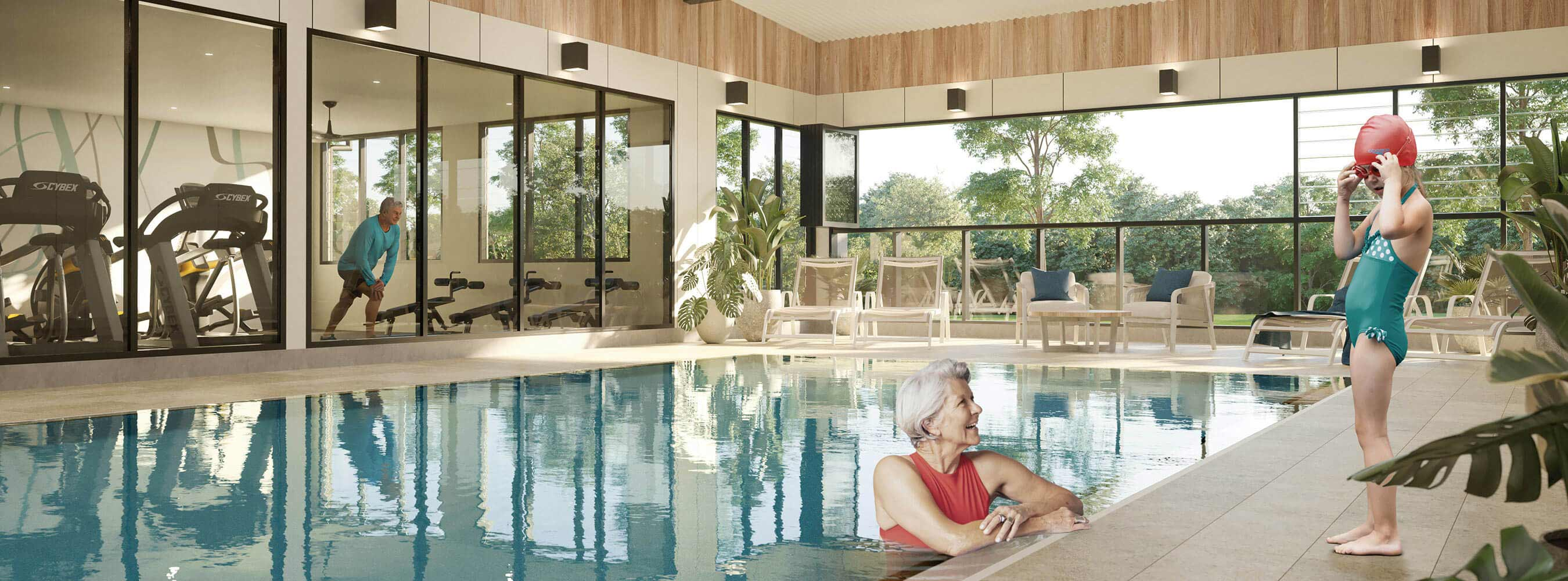 Enjoy a dip in the pool at the Blueheath Clubhouse in Medowie